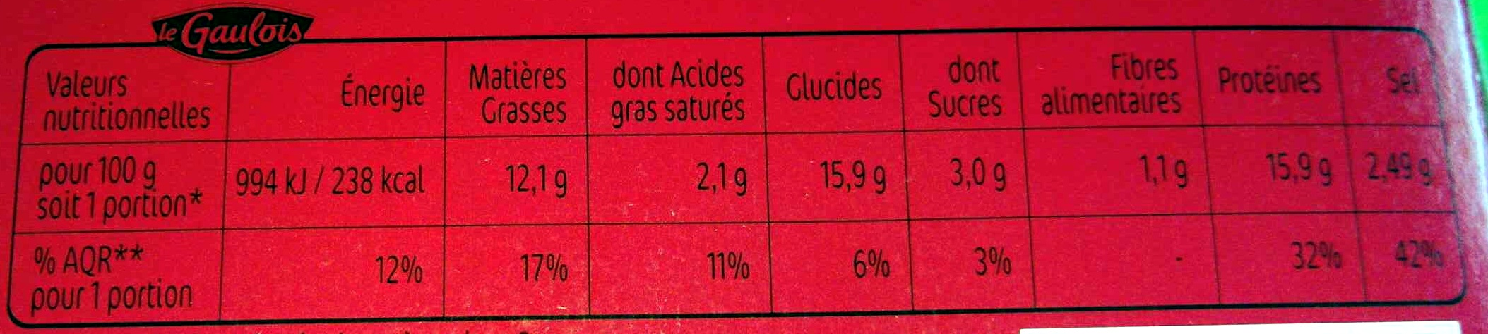 crousty chicken hot & spicy - Informations nutritionnelles - fr