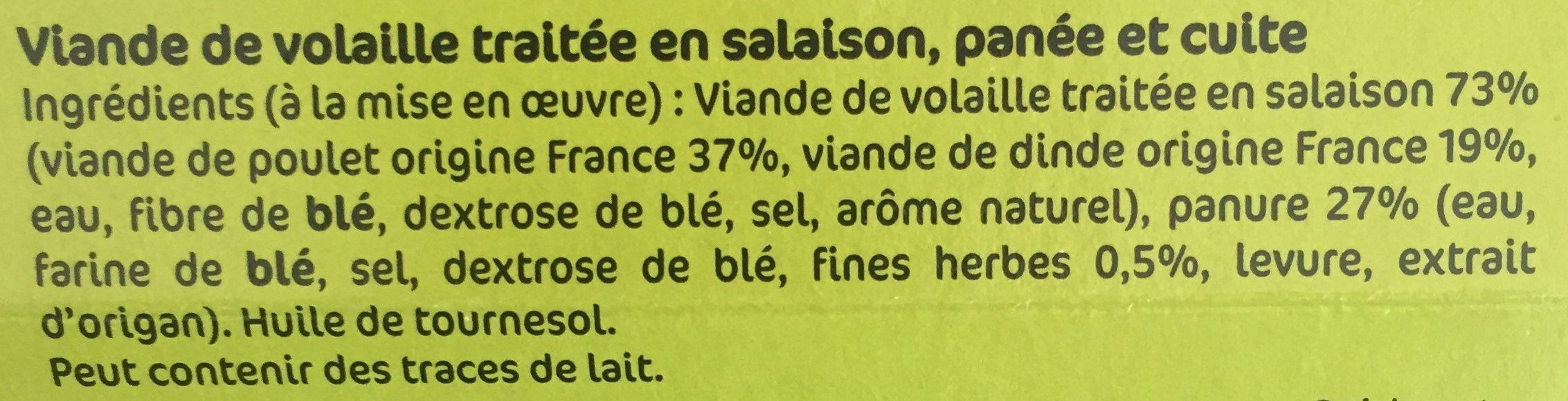 panés milanaise fines herbes s/at x2 - Ingrédients - fr