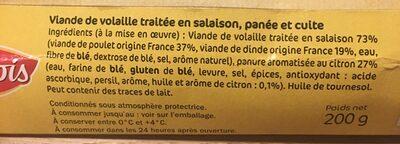 Pané façon Milanaise Finement Citronné - Ingrédients - fr