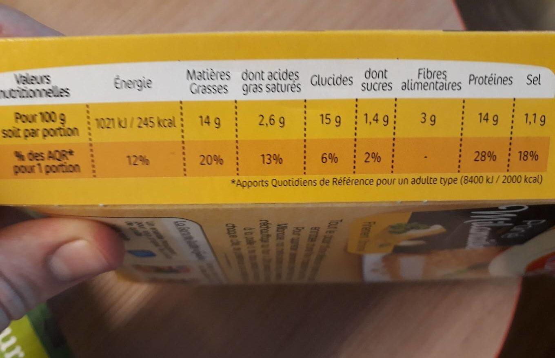 Pané façon Milanaise Finement Citronné - Informations nutritionnelles - fr