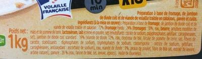 Les Maxis Croq' dés de jambon de dinde et fromage - Ingrédients - fr