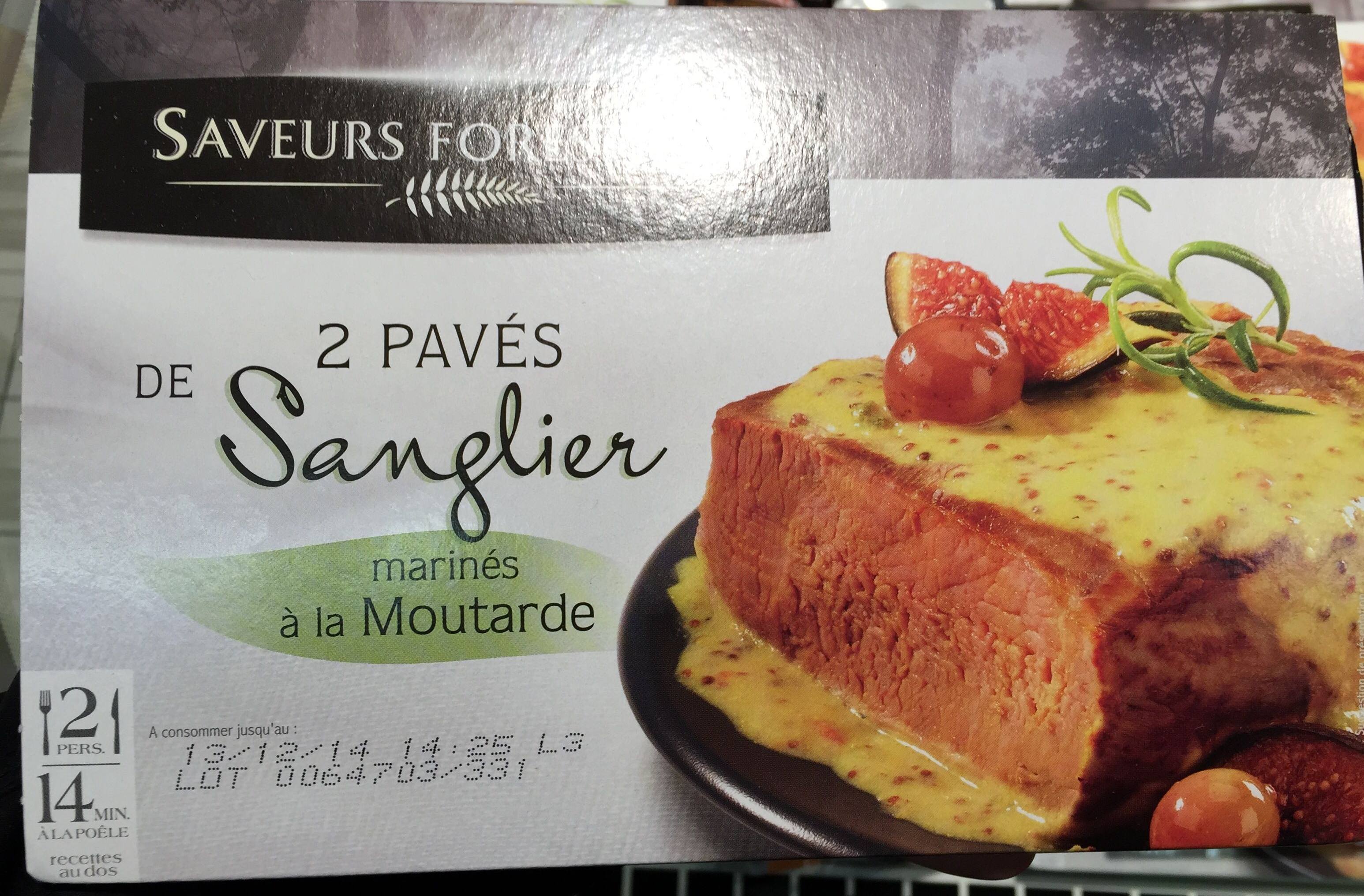 2 Pavés de Sanglier marinés à la Moutarde - Produit - fr