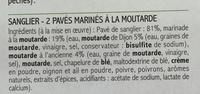 2 Pavés de Sanglier marinés à la Moutarde - Ingrédients - fr