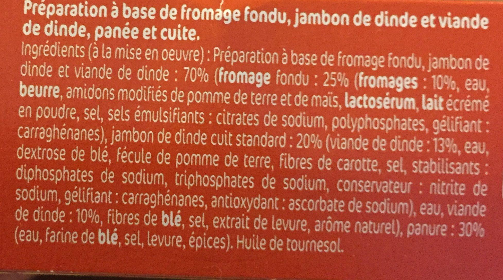 Nuggets Jambon de dinde fromage x10 - Ingrédients