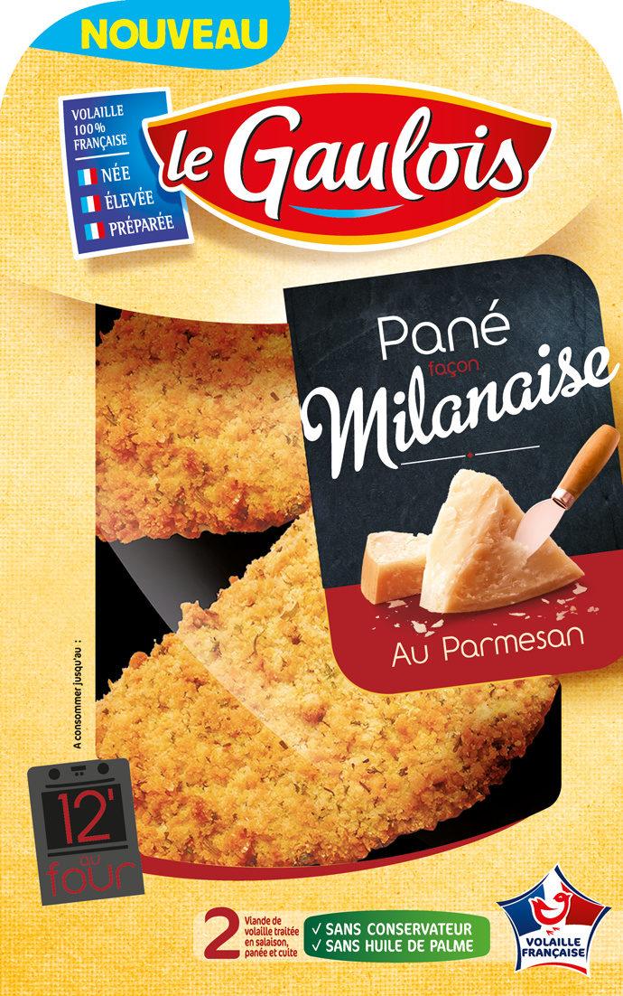 2 Panés façon Milanaise au Parmesan - Produit - fr