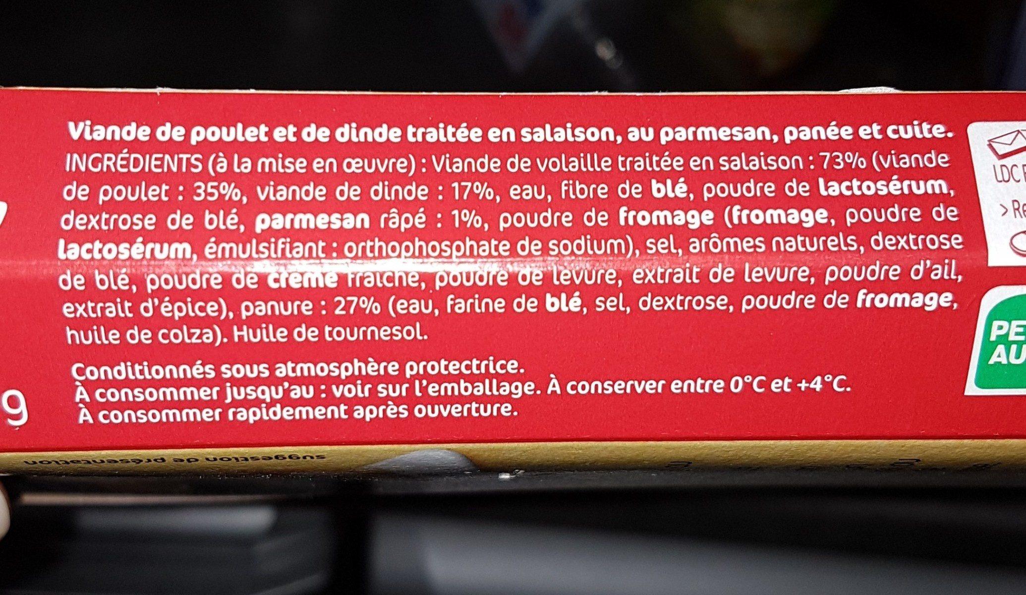 2 Panés façon Milanaise au Parmesan - Ingrédients - fr