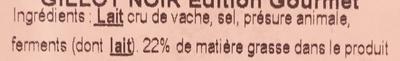 Camembert AOP Edition Gourmet - Ingrédients - fr