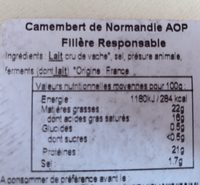 Camembert de normandie gillot - Ingredients - fr