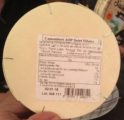 Camembert AOP Saint Hilaire Lait Cru Moule à La Louche - Product
