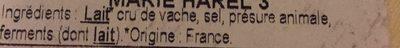 Camembert de Normandie au lait cru - Ingredients - fr
