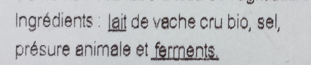 Petit camembert bio - Ingrediënten - fr