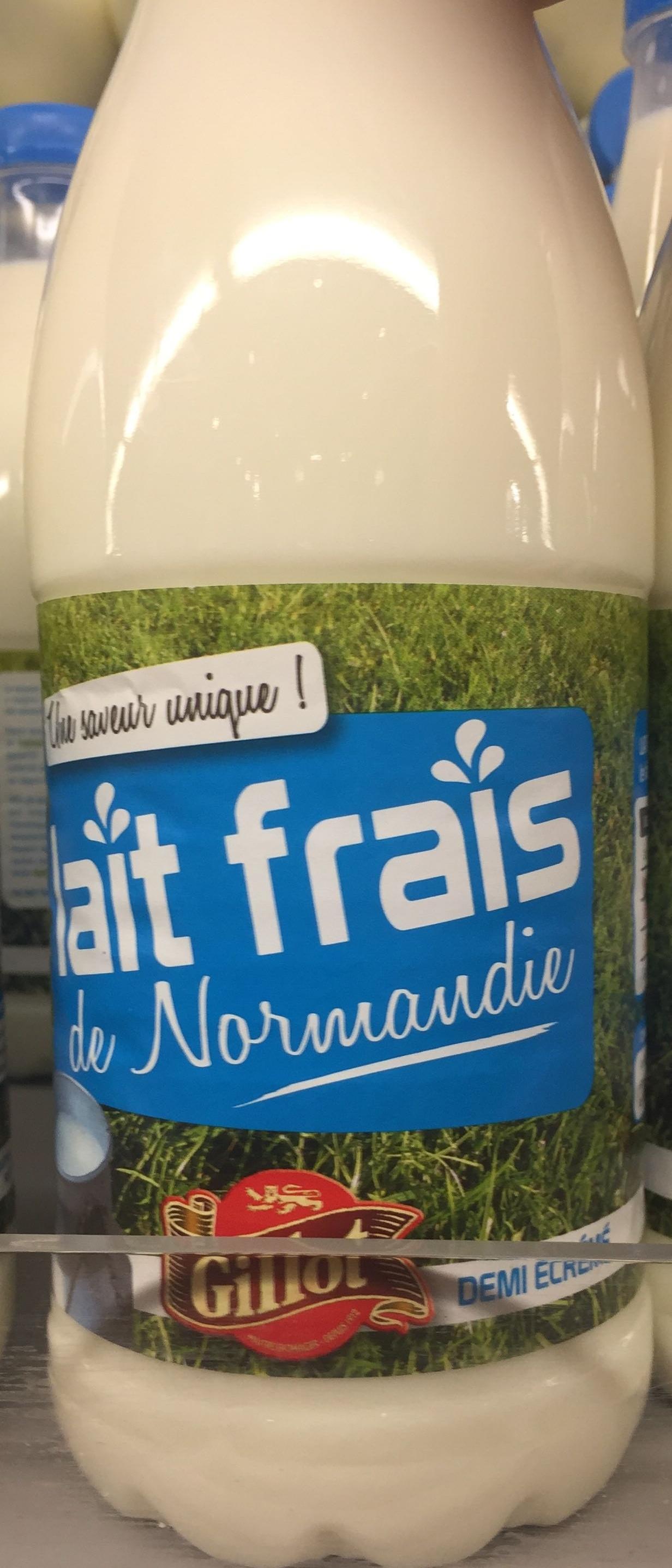 Lait frais de Normandie demi-écrémé - Produit - fr