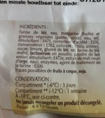 Croissants - Ingrédients