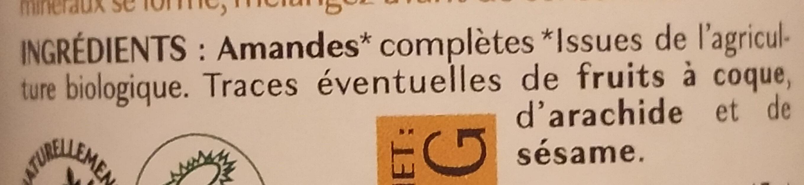 Purée d'amandes complète - Ingredienti - fr