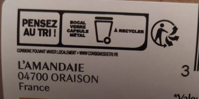 Purée d'amandes complète - Istruzioni per il riciclaggio e/o informazioni sull'imballaggio - fr