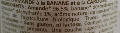 Purée d'amande banane caroube - Ingredients - fr