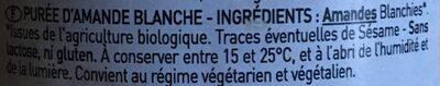 630G Puree D'amande Blanche - Ingrédients