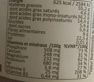 Purée crue 100% amande complète - Valori nutrizionali - fr