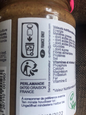 Purée amande taostée - Istruzioni per il riciclaggio e/o informazioni sull'imballaggio - fr