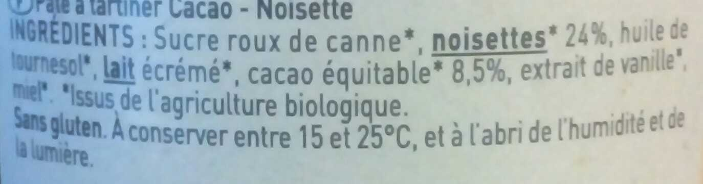 Pâte à tartiner Choko noisette - Ingredienti - fr