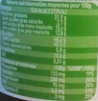 Pâte à tartiner Choko noisette - Valori nutrizionali - fr