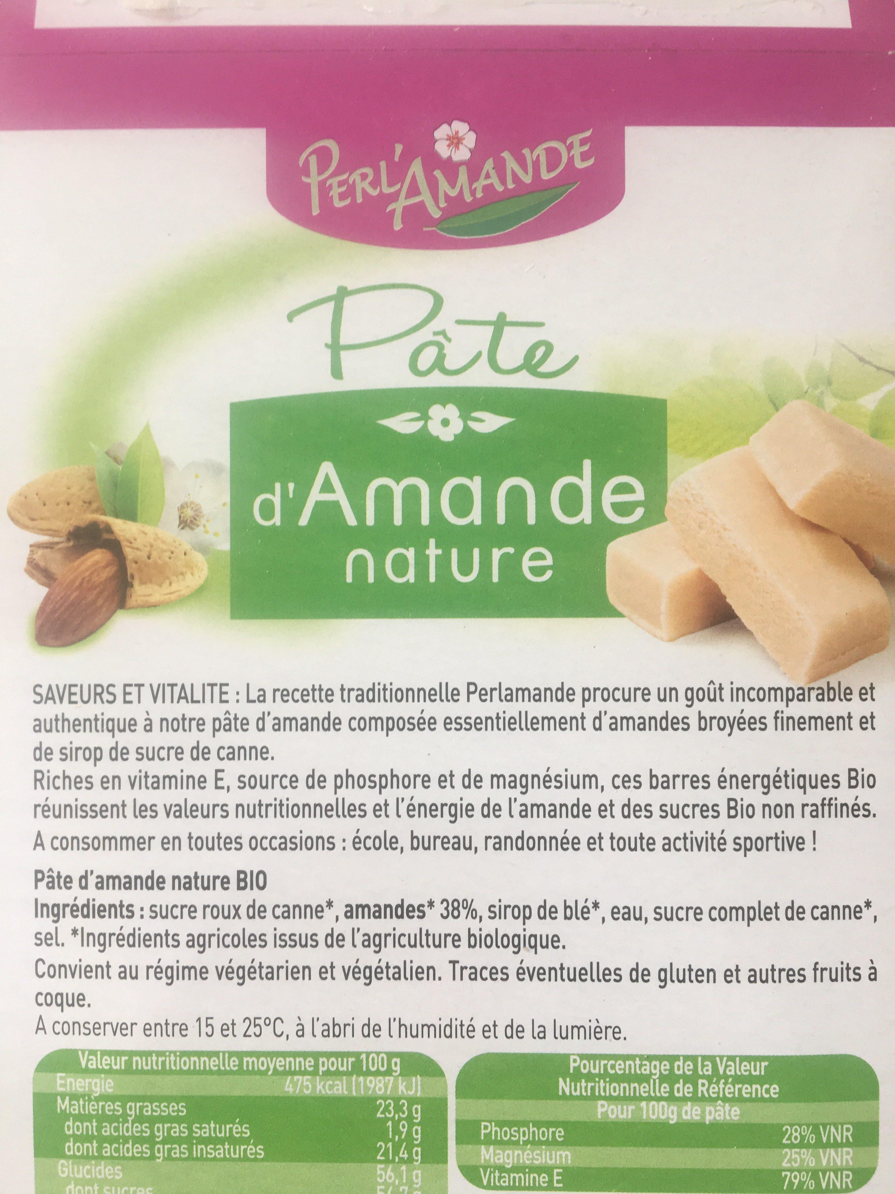 Epicerie / Epicerie Sucrée / Pâtes D'amandes Bio - Ingrédients