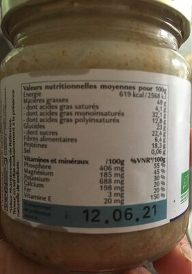 Purée d'Amande - Informations nutritionnelles - fr