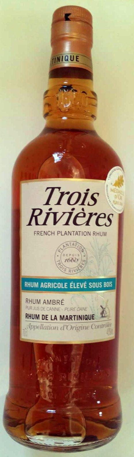 Rhum ambré agricole - Product
