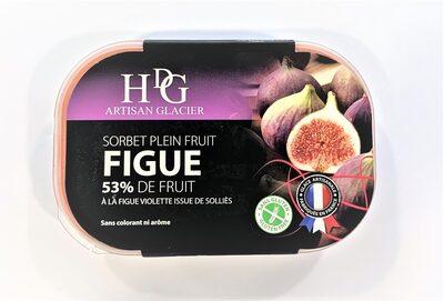 Sorbet plein fruit FIGUE, 53% de fruit - Produit