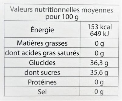Sorbet plein fruit MIRABELLE, 60% de fruit - Nutrition facts