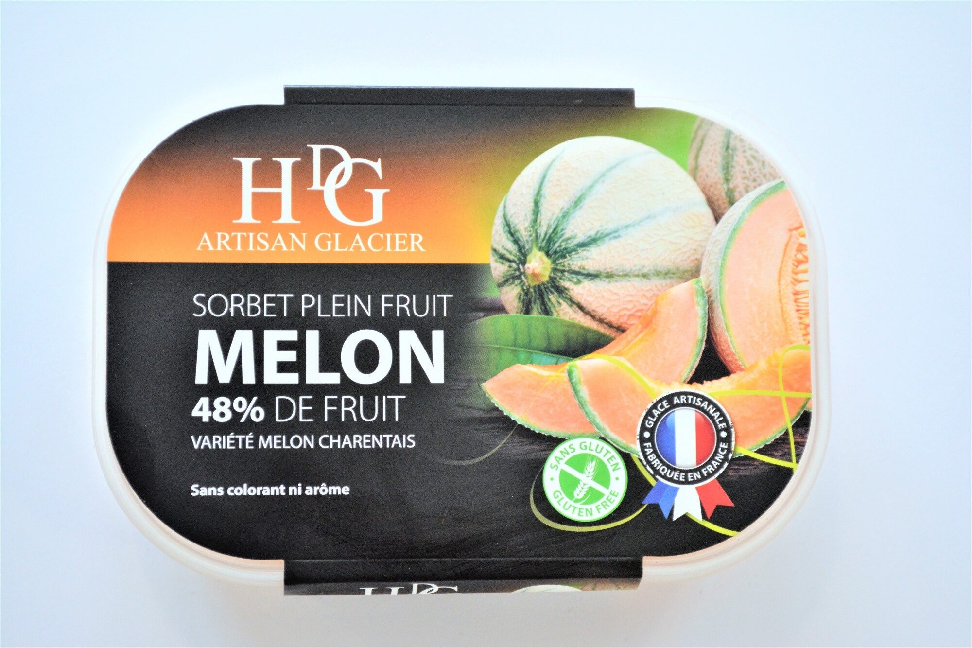 Sorbet plein fruit MELON, 48% de fruit - Produit