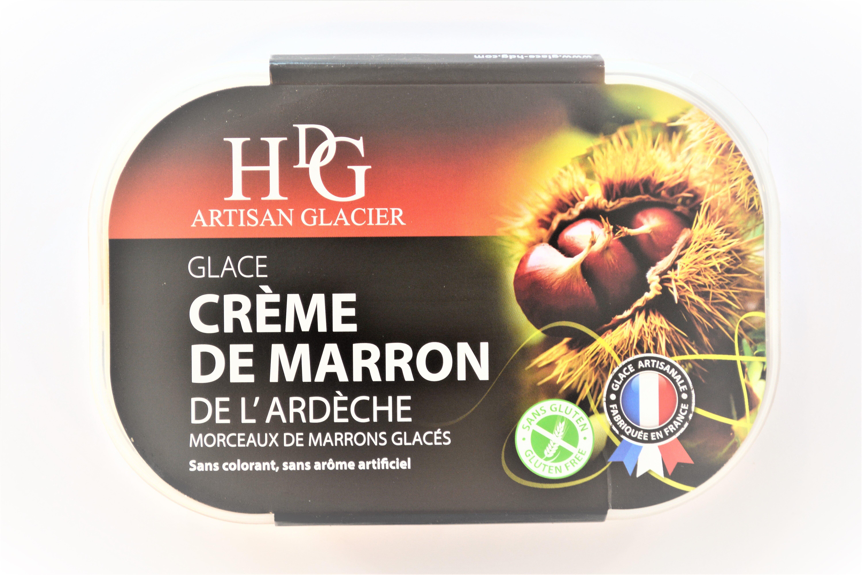 Glace CREME DE MARRON de l'Ardèche, morceaux de marrons glacés - Product