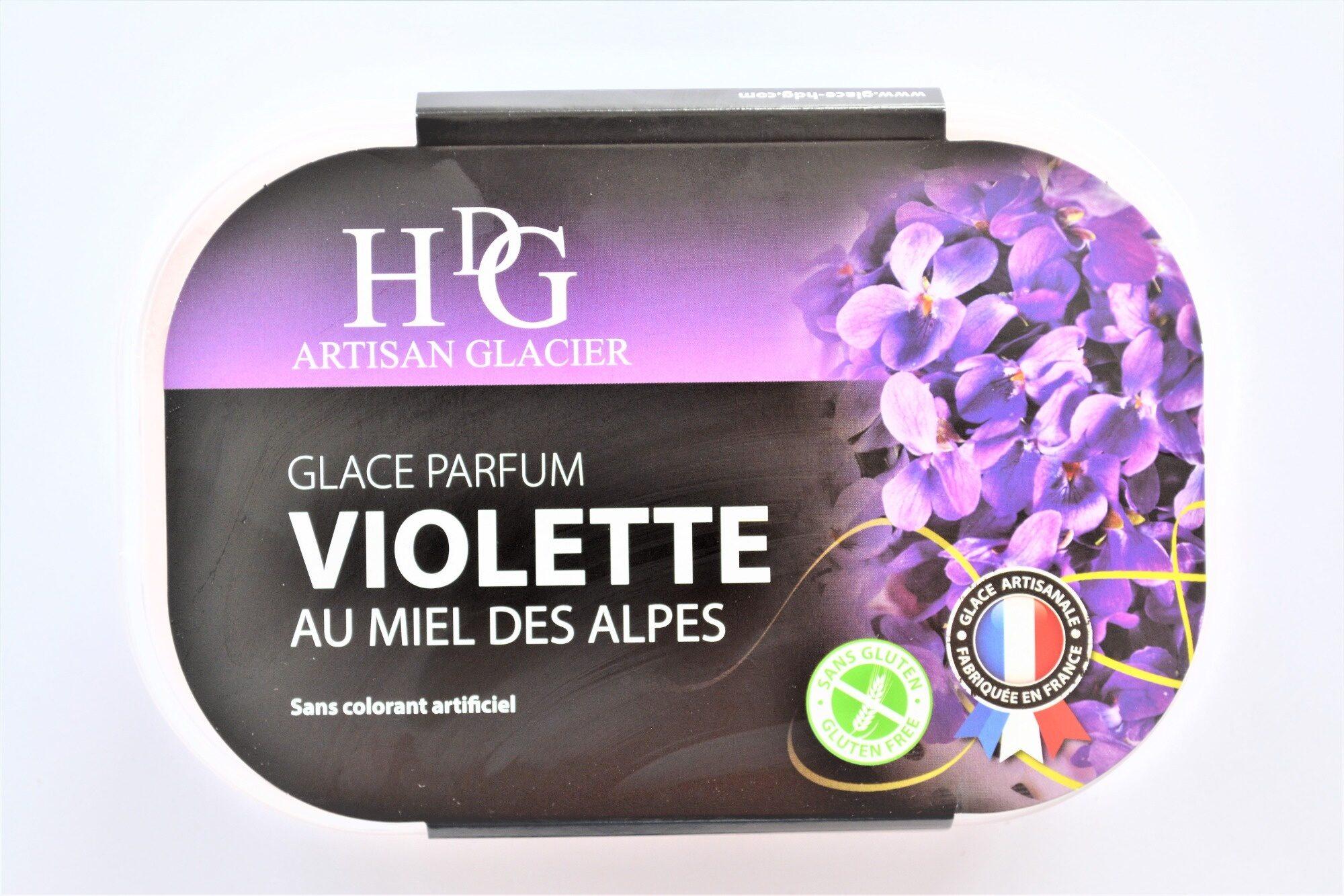 Glace VIOLETTE, au miel des Alpes - Product