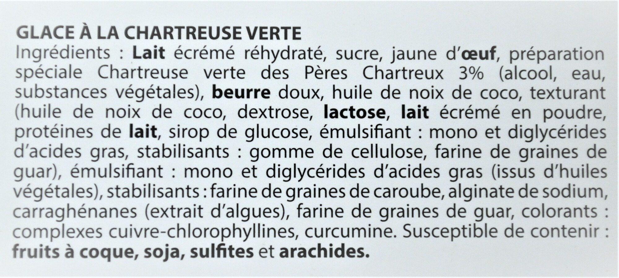 Glace à la CHARTREUSE VERTE, des Pères Chartreux - Ingredients