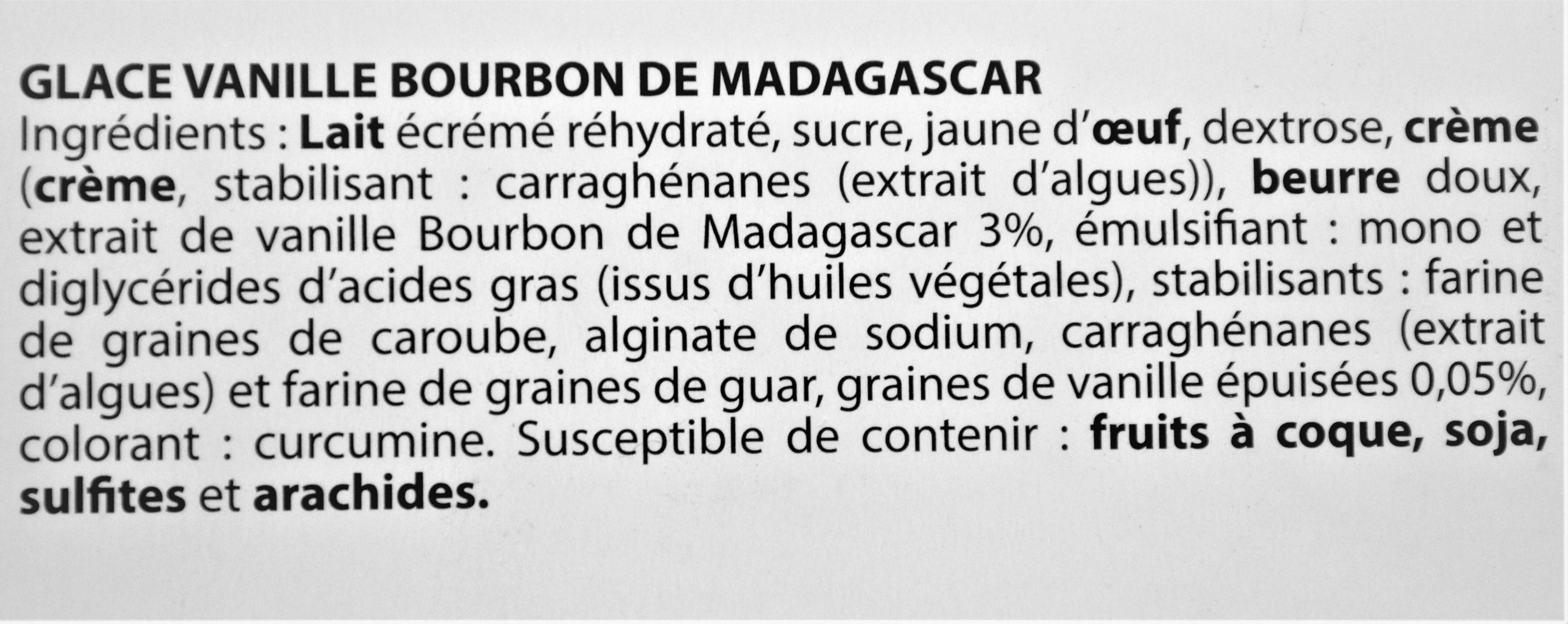 Glace VANILLE BOURBON DE MADAGASCAR - Ingrediënten