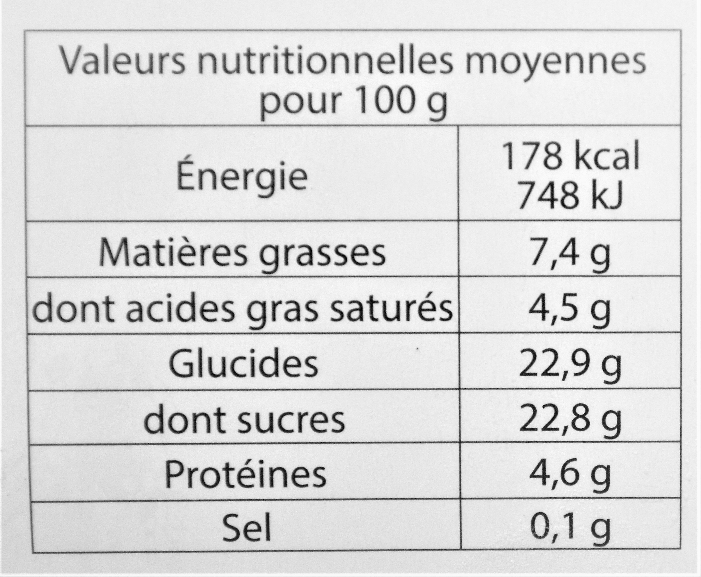 Glace VANILLE BOURBON DE MADAGASCAR - Nutrition facts
