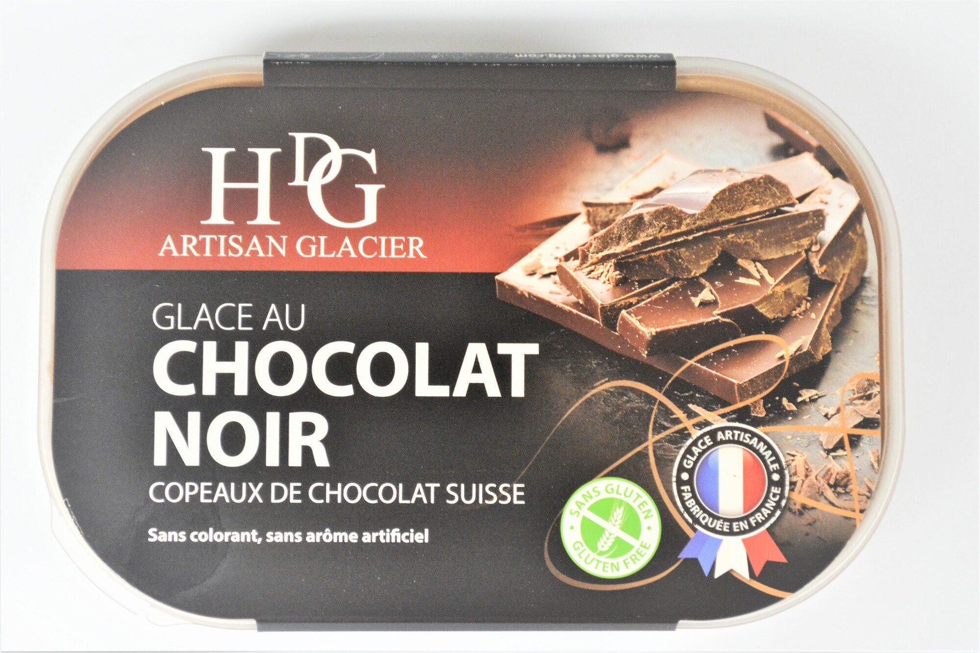 Glace au CHOCOLAT NOIR, copeaux de chocolat Suisse - Product - fr
