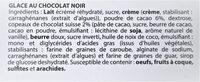 Glace au CHOCOLAT NOIR, copeaux de chocolat Suisse - Ingrediënten - fr