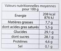 Glace au CHOCOLAT NOIR, copeaux de chocolat Suisse - Voedingswaarden - fr