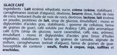 glace pur arabica café - Ingrediënten