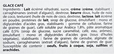 Glace Café au café pur arabica - Ingrediënten - fr