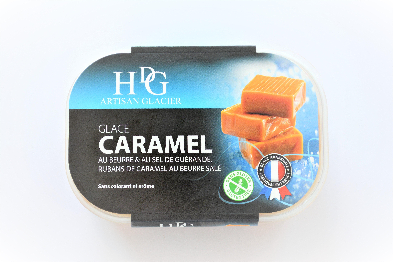 Glace CARAMEL, au beurre & au sel de Guérande, rubans de caramel au beurre salé - Product