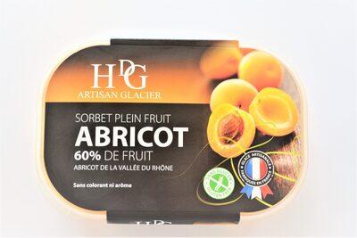 Sorbet plein fruit ABRICOT, 60% de fruit - Product