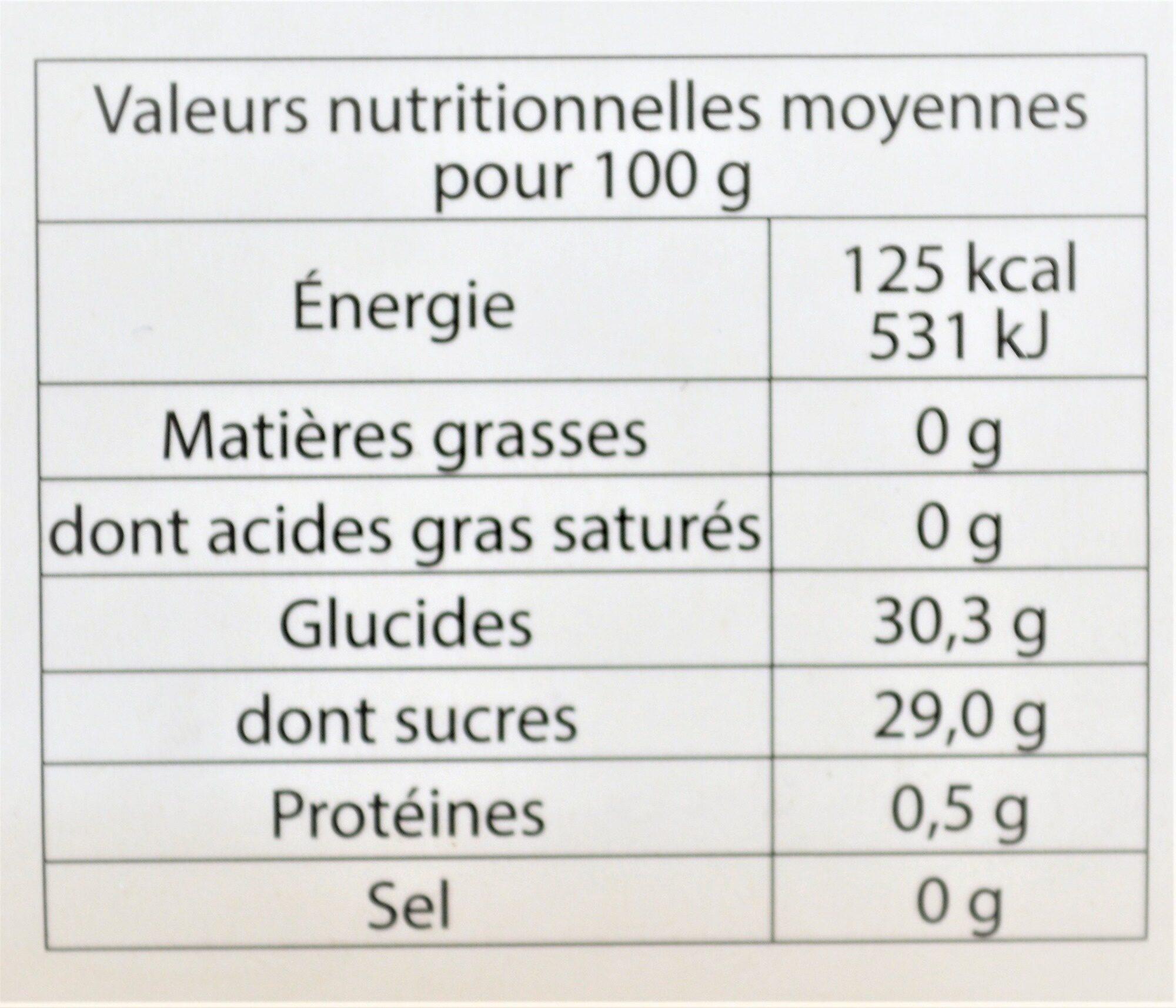 Sorbet plein fruit ABRICOT, 60% de fruit - Nutrition facts