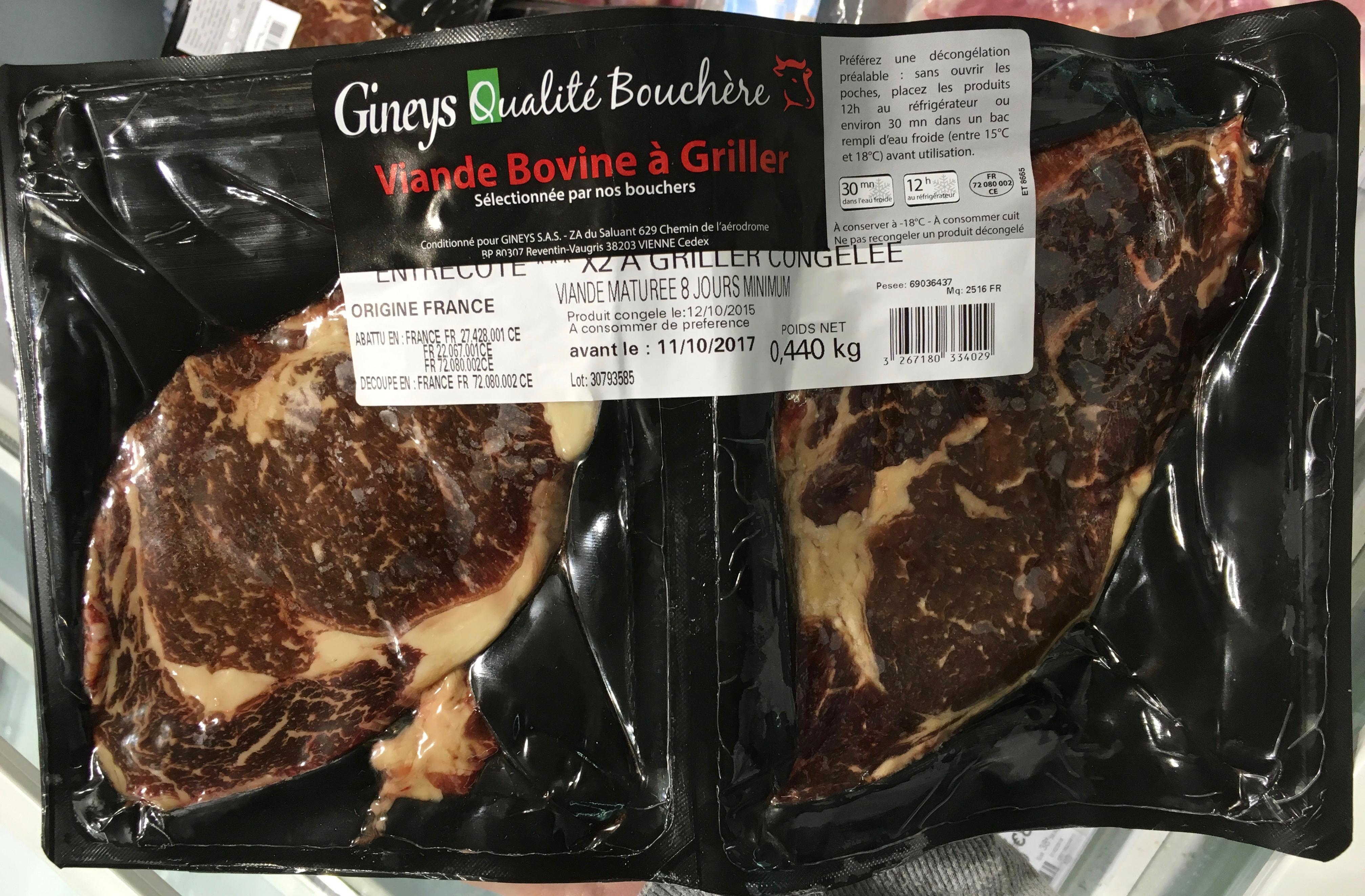 Viande bovine à griller - Product - fr