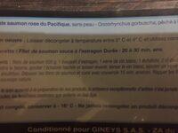 Filets de saumon rose du pacifique - Ingrédients - fr