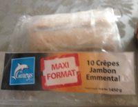 10 crèpes jambon emmental - Produit - fr