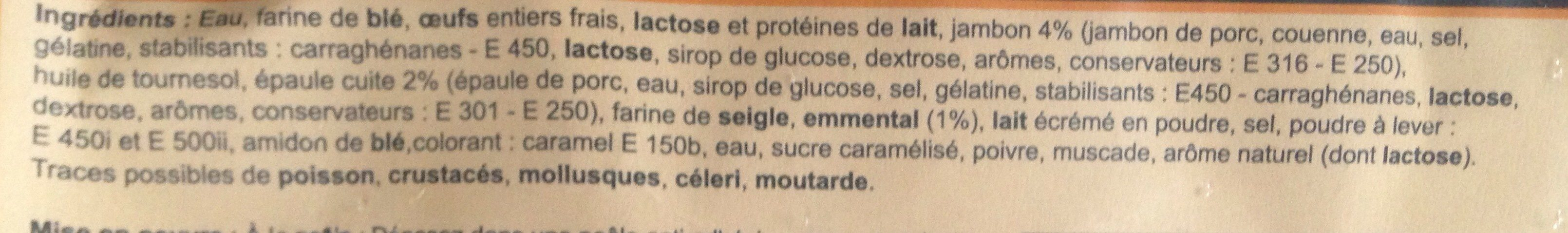 10 crèpes jambon emmental - Ingrédients - fr