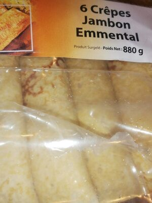 6 crêpes jambon emmental - Produit