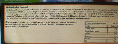 Crêpes jambon emmental - Ingrédients - fr